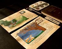 Jean de La Fontaine Fables   Illustration & Calligraphy