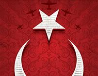 70 / türk bayrağı