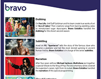Bravo Estúdios - demonstração dos serviços (INGLÊS)