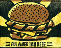 Printmaking: All American Beef