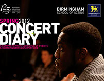 BCU Concert Diary Concept