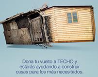 """Campaña """"Dona tu sencillo"""" Sodimac+Techo"""
