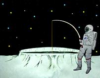Pescando en la Luna