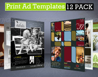 Print Ad Templates 12 Pack - Full Page Magazine Ads PSD