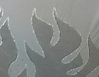 Grey Flame-designed cape