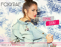 FoxyRae [coming soon] page design