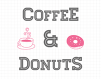 Coffee Donuts Wedding Invitation