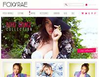 FoxyRae [website] Design
