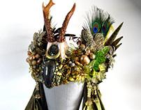 PERSEPHONE'S PROMISE - Roe Deer Antler Headdress