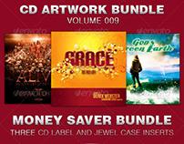 CD Cover Artwork Template Bundle-Vol 009
