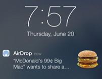 McDonald's iOS 7 AirDrop Ad