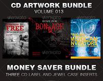 CD Cover Artwork Template Bundle-Vol 013