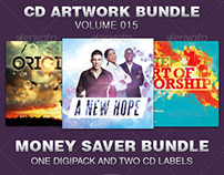 CD Cover Artwork Template Bundle-Vol 015