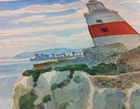The Lighthouse - watercolor