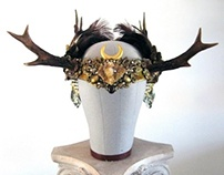 BRIGHT AUTUMN SISTER - Antler Headdress