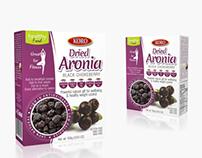 Packaging design for Koro Dried Aronia fruit