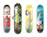 """The Beatles"" Skateboards Project"