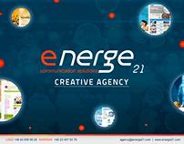 Energe21 creative agency portfolio