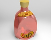 Solidworks - Dimple Whiskey Bottle