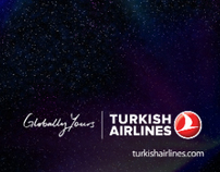 Turkish Airlines Network Map (Space Concept)