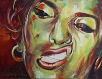 """""""Amy"""" Acryl on Canvas, 150 x 100 cm"""