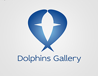 Dolphins Gallery Logo Design