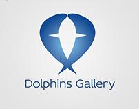 Dolphins Gallery Logo Design