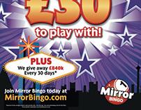 Mirror Bingo Print Adverts