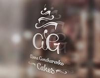 Anna Goncharenko Cakes - graphic & logo design, photo
