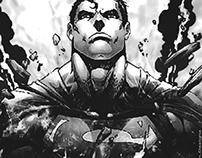 Super Man Show Back - Large Wallpaper