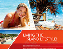 Island Lifestyle Vacation Flyer Template