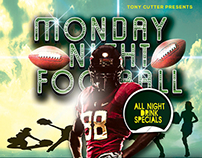 Monday Night Football Flyer (Free Download) PSD