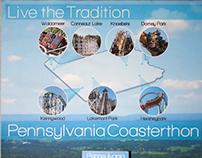 Pennsylvania Coasterthon Poster & Brochure
