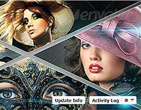 Triangle Image Display Facebook Timeline Cover