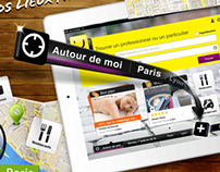 Screen shot for ipad application of Pagesjaunes_V1