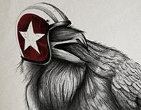 Corvus Legibus graphic for GUESS - FW 13/14 Collection