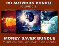 CD Cover Artwork Template Bundle-Vol 017