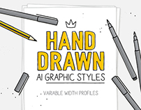 Hand drawn AI graphic styles.