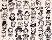 Illustrations for Nikolay Gogol's 'The Nose'