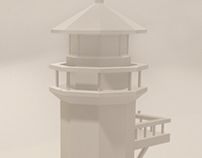 Lighthouse - LowPoly - 3D