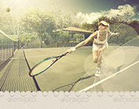 Regato Tennis Open Flyer Template