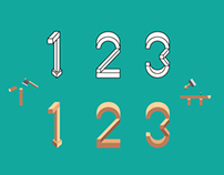 CHISEL : Handset type design of number