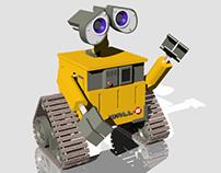 Wall-E Render on Rhinoceros