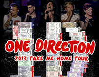 2013 - One Direction - Take Me Home - Tour Plaque