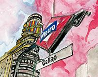 Watercolor Madrid City