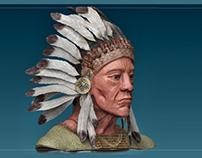Native American sculpt