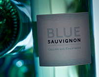 """Blue Sauvignon"" Wine Label"