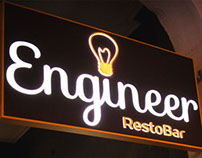 "Logo, website and signboard for ""Engineer"" pub"