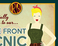 Rochester Vintage Society picnic poster 2013