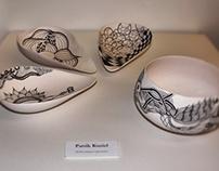 Porcelain unglazed bowls.